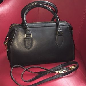 Coach Broadway Madison black doctors bag satchel